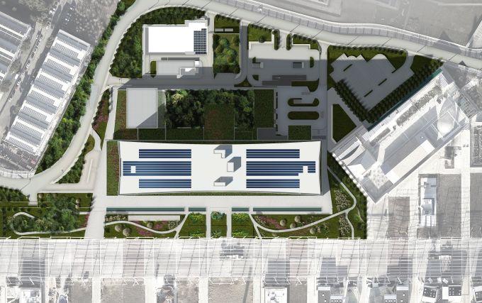 Nuovo ospedale Galeazzi, Planivolumetrico