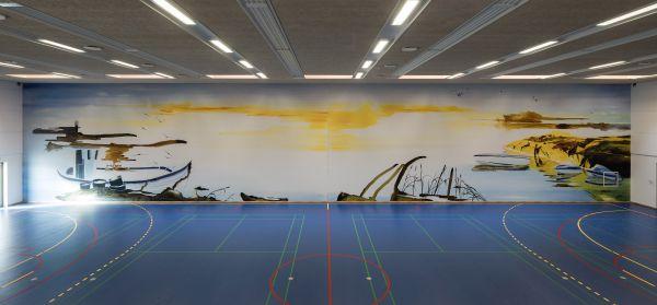 Una delle palestre del penitenziario danese Storstrøm Fængsel: lo sport ha una funzione rieducativa