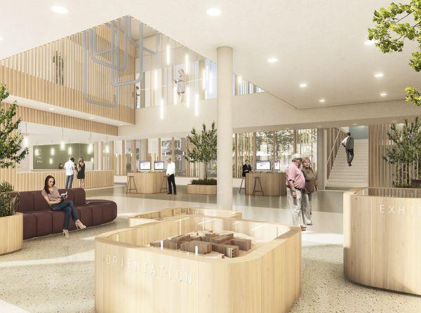 La lobby della clinica psichiatrica di Tampere