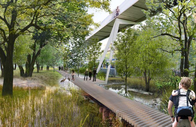 Riqualificazione Scalo porta romana con al centro il grande parco e la zona ecologica
