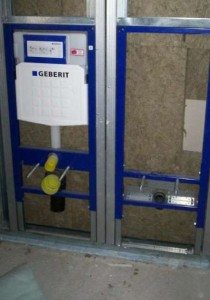 Residenze CasaClima Classe A, Stezzano (BG): dettaglio parete bagno