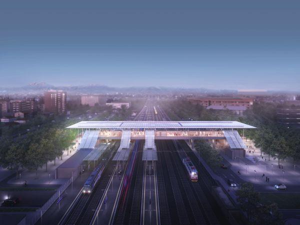 Render della nuova stazione ferroviaria di Sesto San Giovanni