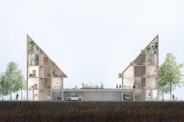 La sezione trasversale del complesso New Angle