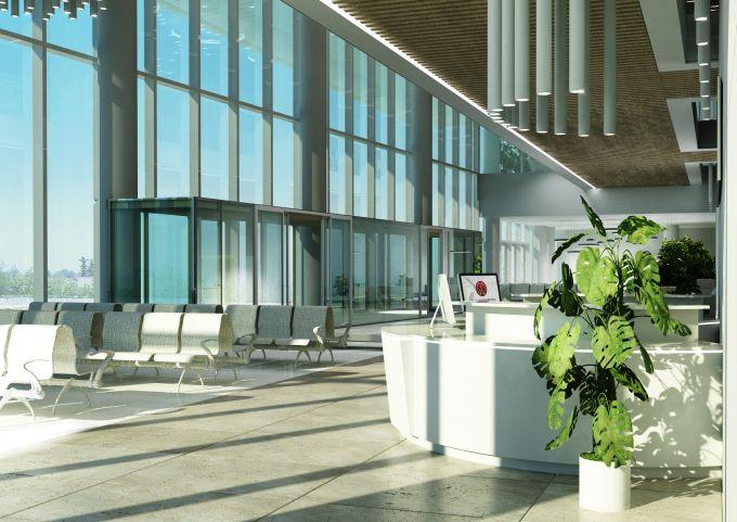 Nuovo ospedale galeazzi, La hall di ingresso