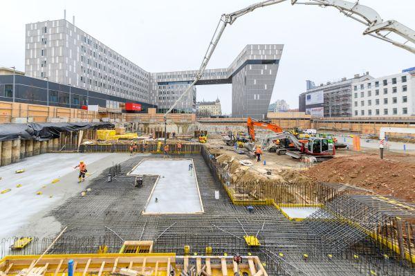 Il cantiere su cui sorgerà lo store Ikea a Vienna (credits querkraft architekten)