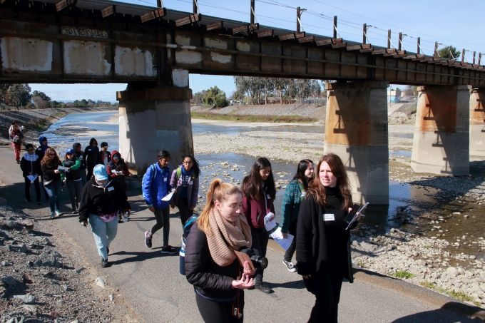 Fase della partecipazione al progetto Unlock Alameda Creek