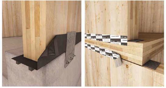 5. Sigillatura dell'attacco a terra e tra solaio e pareti.