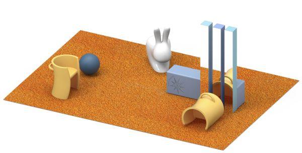 I giochi e gli attrezzi del progetto vincitore del progetto Sport Therapy
