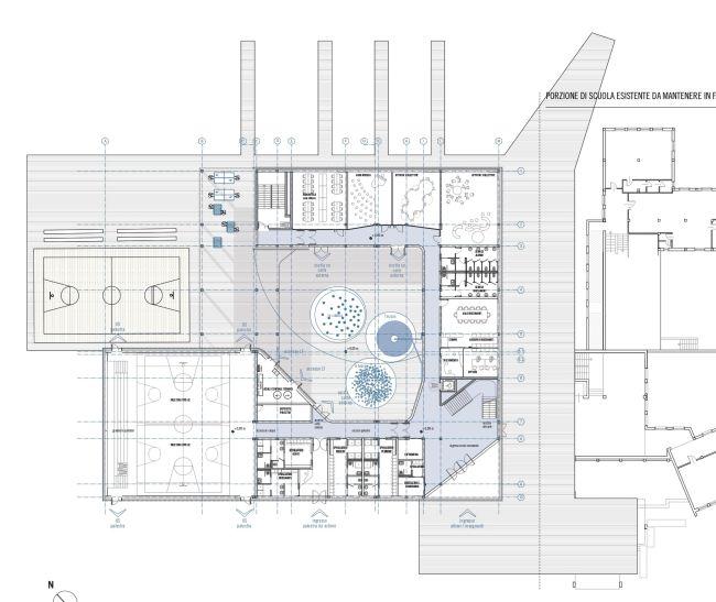 Scuola di Legnago, pianta piano terra