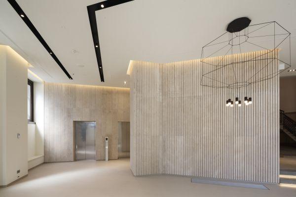 Il nuovo ingresso dell'edificio dell'ex Tibb a Milano