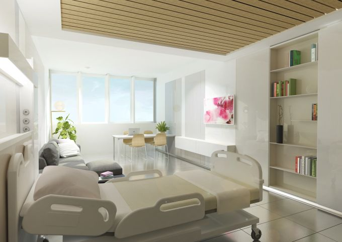 Nuovo Galeazzi,una delle Stanze dell'ospedale