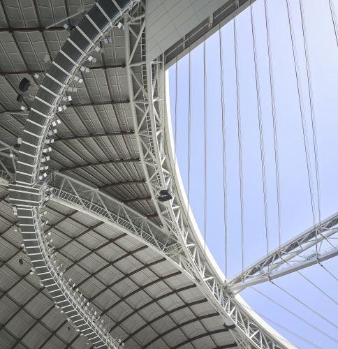 La copertuyra aperta dello Al Wakrah Stadium in Qatar
