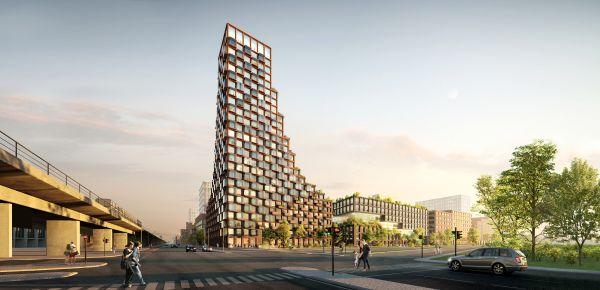 Vista frontale del nuovo Cph Common House di Copenhagen