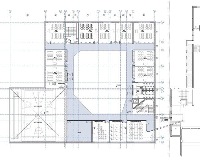 Scuola Legnago, pianta primo piano