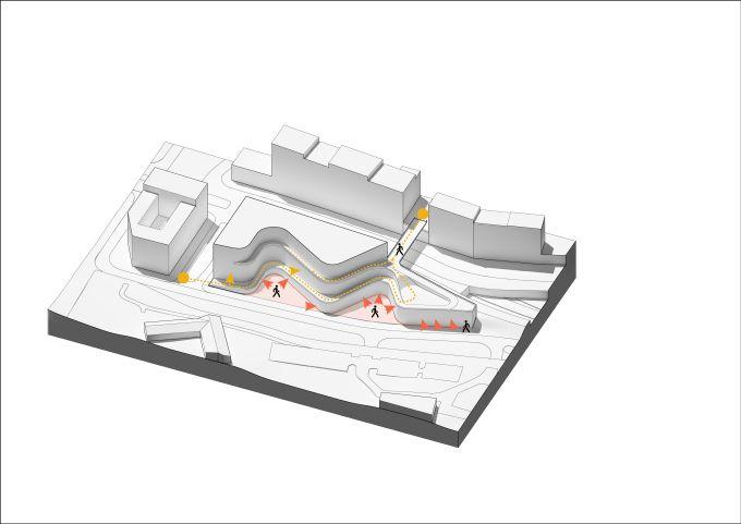 Schemi progettuali del complesso Kvarter 15 a Stoccolma