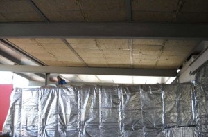 Uffici Vanoncini spa - CasaClima Classe Oro, Mapello (BG): un interno in fase di realizzazione