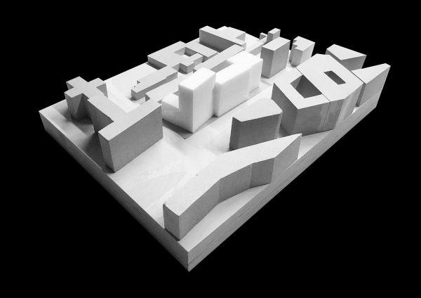 Il modello del progetto del nuovo studentato di Milano (Calzoni Architetti)