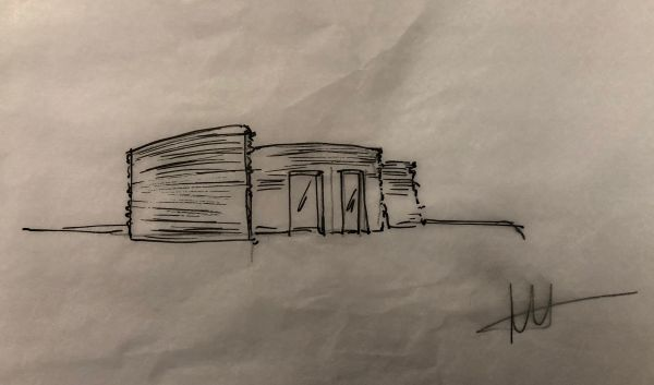 Lo schizzo progettuale della 3D Housing 05