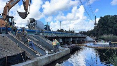 Halls River Bridge a Homosassa Spring in Florida