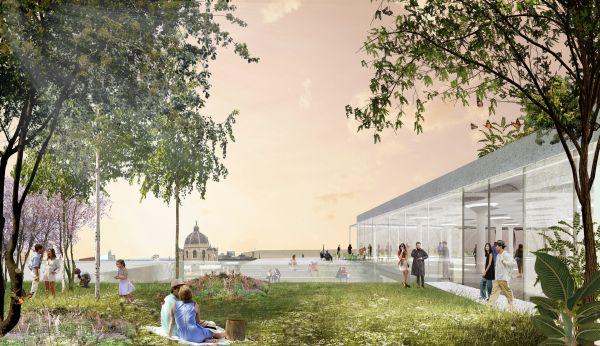 Scorcio del nuovo complesso commerciale e alberghiero KaDeWe a Vienna - The Link