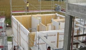 In queste immagini la Sede Rubner, Chienes (BZ): il cantiere
