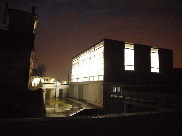 Illuminazione notturna della centrale idroelettrica Seva srl di Pontoglio