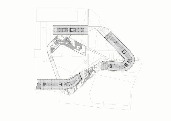 Sesto palazzo Eni, pianta complesso