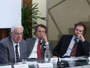 L'Ingegner Camillo Paveri Fontana (Presidente ADSI Lombardia), con Eugenio Radice Fossati e Claudio Sangiorgi