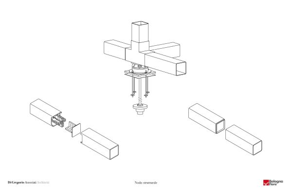 Nodo strutturale © Di Gregorio Associati