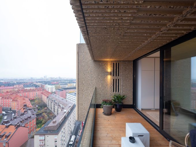 Le finiture esterne degli edifici di Norra Tornen a Stoccolma