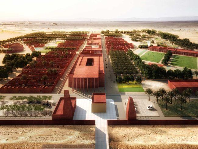 Base de vie Adrar, Algeria. Progetto di Atelier(s) Alfonso Femia, 2014