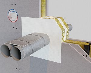 AF PIPEGUARD: protezione antifuoco per attraversamento di tubi metallici