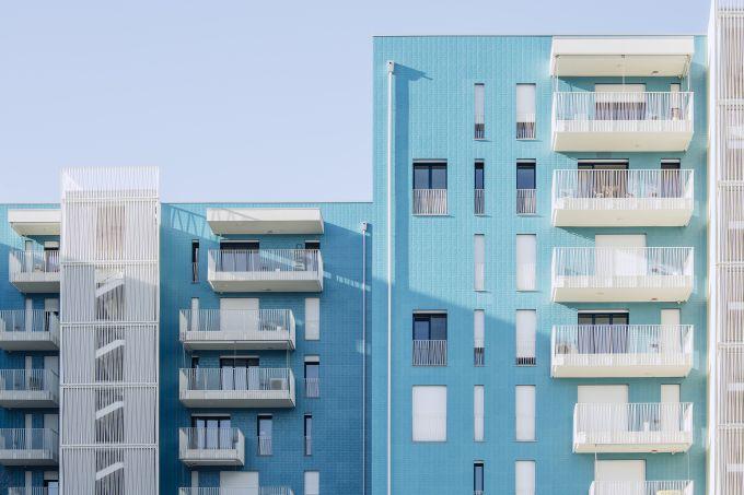 Living in the blue a Milano Lambrate progetto di Alfonso Femia