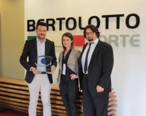 Consegna del premio a Claudio Bertolotto