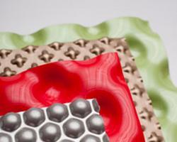 Fogli decorativi stampati con motivi tridimensionali 1