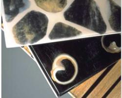 Piastrelle in resina e bambù 1