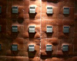 Tessere mosaiche in terracotta e vetro