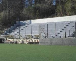 Recupero e ripristino delle tribune di un campo sportivo