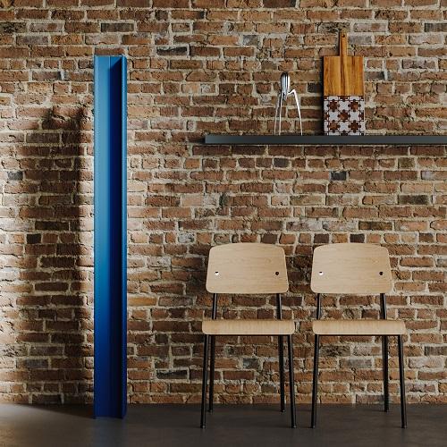 Radiatore T Tower nella colorazione blu