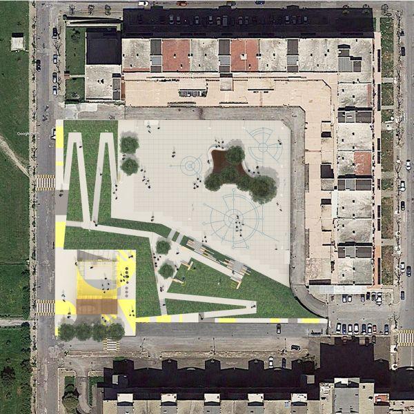 Aprilia, Prossima Apertura - Vista planimetrica _ Site plan