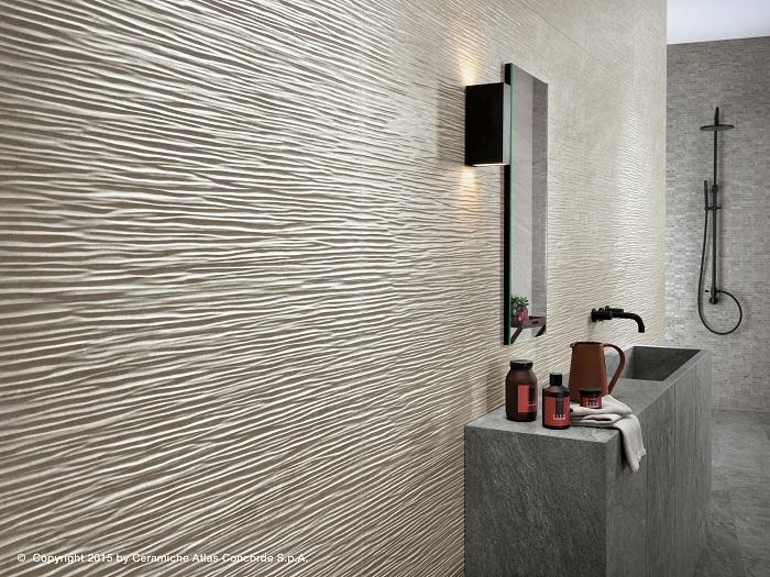 Brave rivestimenti in pasta bianca atlas concorde - Rivestimenti doccia in pietra ...