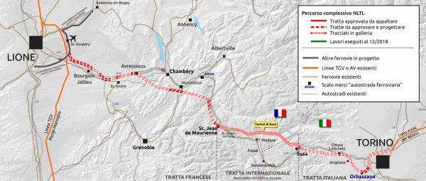 Avanzamento lavori e progetto TAV - Totrino/Lione