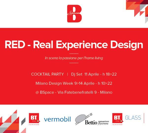BT GROUP durante il Fuori Salone 2019 presenta l'evento RED nello spazio BSpace