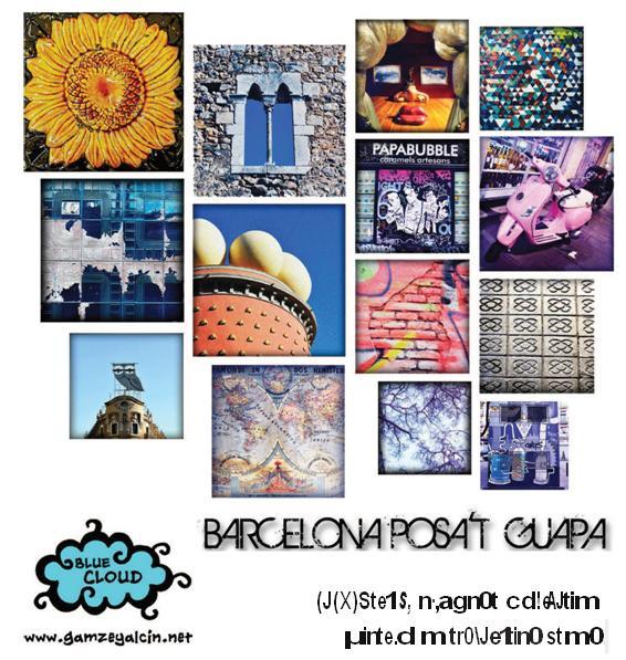 """Manifesto dell'operazione urbana """"Barcelona posa'!guapa""""."""