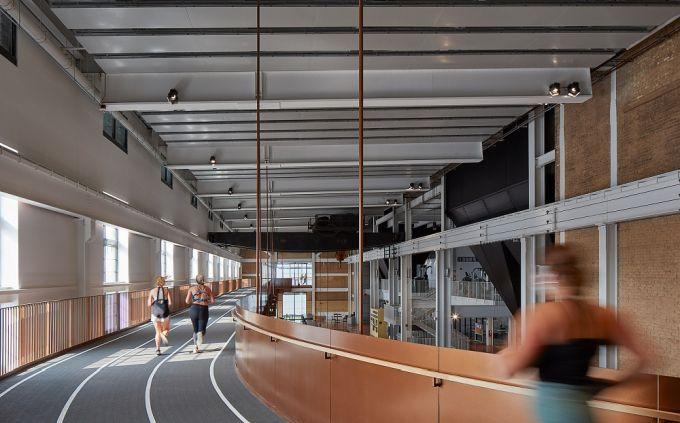 la pista di atletica dello Student Union nel Beloit College