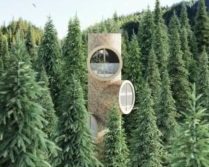 La casa sull'albero modulare che assomiglia ai Minions