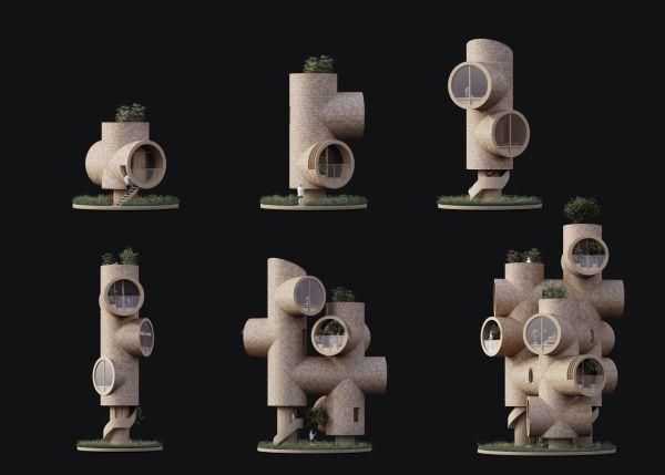 Bert, casa sull'albero, dalla struttura prefabbricata modulare e che si assembla