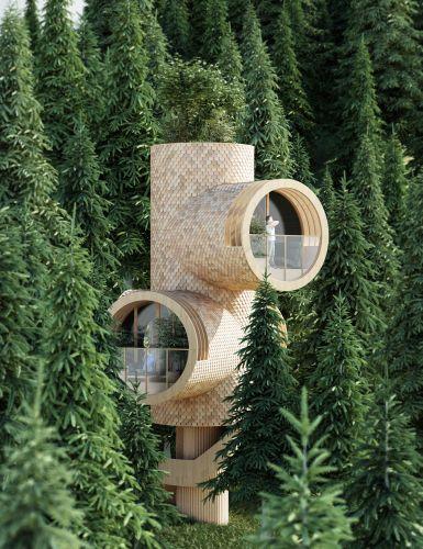 Bert, la casa sull'albero può ospitare un roof garden