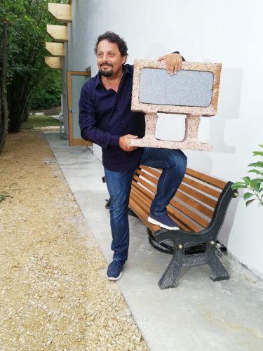 Legnobloc per il Polo multifunzionale donato dall'Artista Enrico Brignano alla comunità di Amatrice.