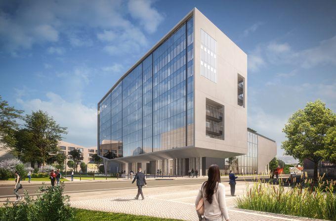Building D di Covivio: Render del complesso da via Vezza d'Oglio